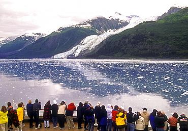 Margerie Glacier, West Arm, Glacier Bay, Alaska, as seen from a cruise ship.