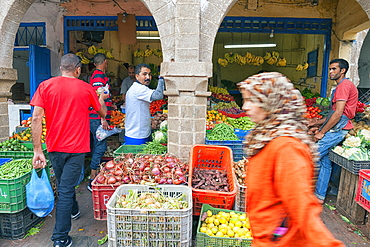 Vegetable And Fruit Market On The Street Of Essaouira, Morocco, Africa