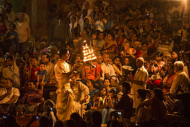 Ganga Aarti At Dashaswamedh Ghat, Varanasi, Uttar Pradesh, India