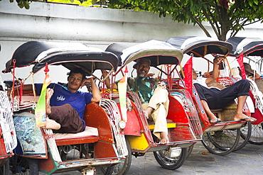 Traditional Tricycle In Yogyakarta, Java, Indonesia