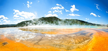 Grand Prismatic Spring At Yellowstone National Park, Wyoming, Usa