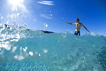 Lucas Dirske Longboarding At Pupukea Sandbar, Oahu