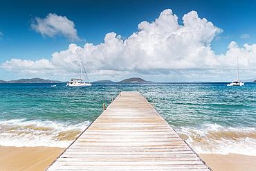 Beach Scene On Caribbean Salt Island, British Virgin