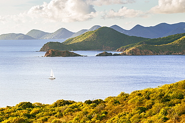 Norman Island And Tortola From Peter Island At Sunset