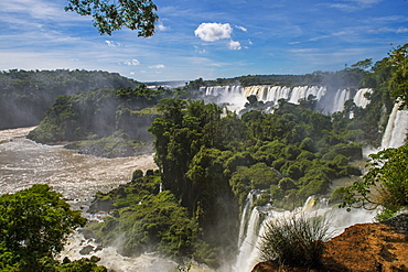 The Iguazu waterfalls on the Argentinian side