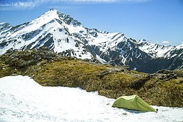 Alpine Camping On French Ridge In Mount Aspiring National Park