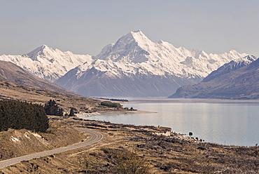 Mount Cook Over Lake Pukaki, New Zealand