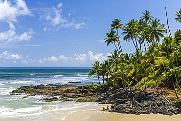 Havaizinho Beach in Itacare, South Bahia, Brazil