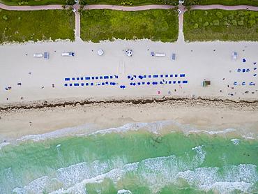 Bird's-Eye View Of Miami Beach In Florida