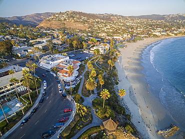 High Angle View Of Newport Beach In California, Usa