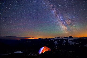 Beautiful Night And Camping Under A Milky Way