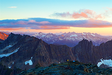 Two Friends Marvel At The View At North Cascades National Park