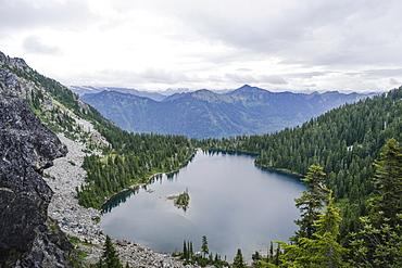 Theseus Lake in Cascade Mountains of Washington