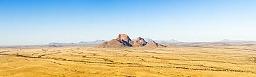 Beautiful panorama of savannah with rock formation, Spitzkoppe, Erongo region, Namibia