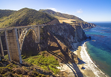The Bixby Bridge on Highway 1 in Big Sur California.