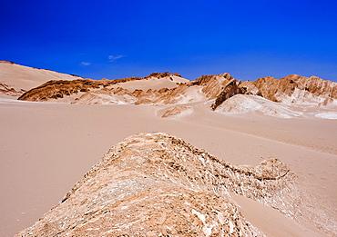 Dry desert outside of San Pedro de Atacama, Chile