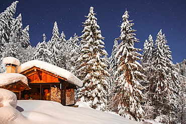 Winter landscape scenes near Morzine, France, part of the Portes du Soleil ski area in the Alps.