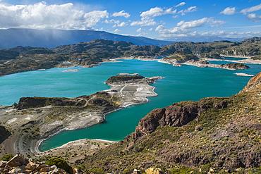 Scenic view of Laguna Verde, Chile Chico, General Carrera Province, Chile