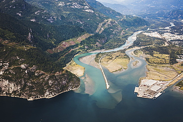 Aerial view of Squamish, British Columbia, Canada