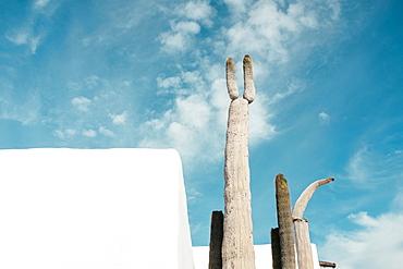 Architecture details at Fundacion Cesar Manrique, Lanzarote, Canary Islands, Spain
