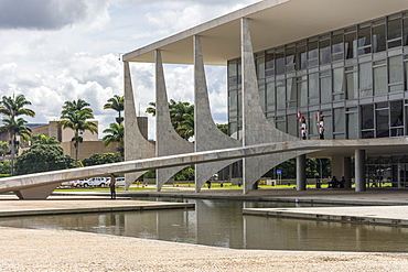 Modern building of Palacio do Planalto Planalto Palace, Presidential Cabinet, Brasilia, Brazil