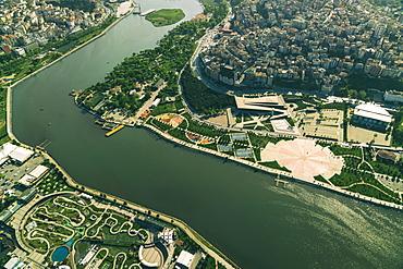 Aerial view of city European part, Golden Horn, Istanbul, Turkey