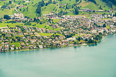 Townscape on Lucerne Lake shore, Lucerne, Switzerland
