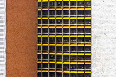 Architectural photograph with skyscraper facade, Brasilia, Brazil