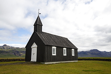 The?Budakirkja, commonly known as?Iceland's?Black Church, is a landmark in the town of?Budir?on the?Snaeffelsnes?Peninsula, Iceland