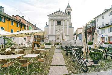 View of St Antonio Square (Piazza Sant Antonio), Locarno, Ticino, Switzerland