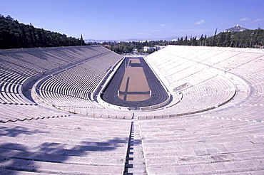 Olympic stadium in Athens, site of the first Olympic games in recent history.