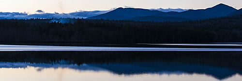 Reflections of the mountains on Lake Chocorua.