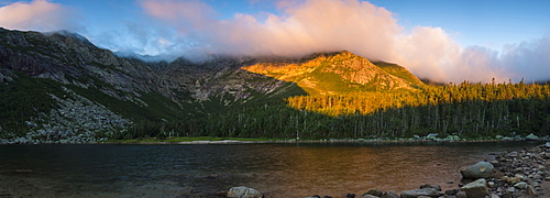 Chimney Pond And Mount Katahdin In Maine's Baxter State Park