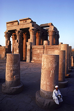 Temple to Sobek, the crocodile god, and Harwer, the falcon diety at Kom Ombo, Egypt.