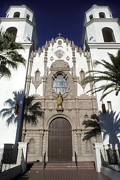 Spanish styled church in downtown Tucson, Arizona
