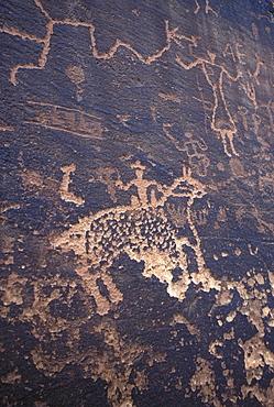 Historic petroglyph (probably Navajo in origin) at Sand Island, near Bluff, Utah.