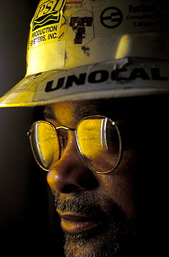 Portrait of an African American Oil Drill Worker.
