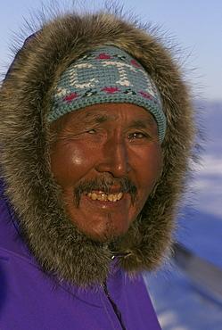 Portrait of an Inuit man.