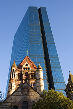 Anchored by the modern John Hancock building and the stately Trinity Church, Copley Square is a favorite Boston Tourist destinat