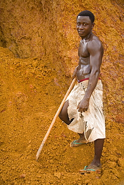 Young Liberian Man with Shovel