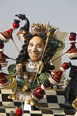 A float representing the Italian businessman and politician Silvio Berlusconi in the Carneval of Viareggio.