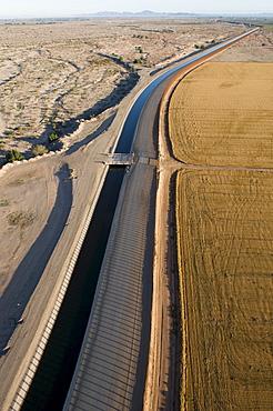 Aerial border patrol on the U.S./Mexico border.