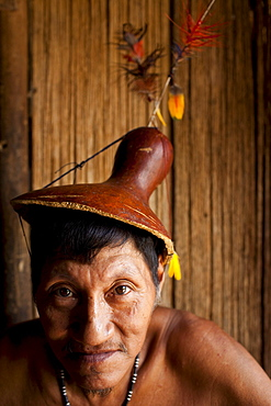 Portrait of an Oro Win elder, Amazon Basin, Brazil.