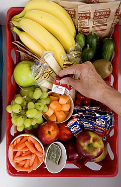 "Healthy snacks are available for employees in the kitchen of The Bangor Letter Shop. The Bangor, Maine company won the ""Bronze Award"" in 2004 in the Wellness Councils of America's contest held every three years.  Bangor Letter Shop President Irv Marsters believes they have a shot at the Gold in 2007."