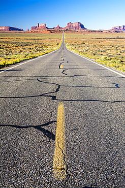 Highway 163 heading South towards Monument Valley, Arizona.