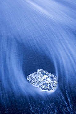 A Iceberg washed ashore near Jökulsárlón Glacier Lagoon in Southern Iceland.