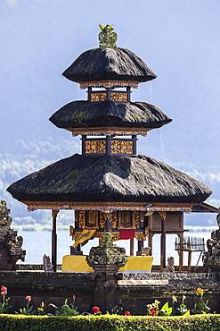 Pura Ulun Danu temple on a lake Bratan, Bali, Indonesia.