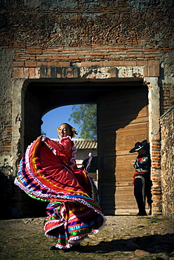 Young dancers perform at Hacienda Las Trancas, a 450 year old structure located near three Spanish Colonial cities of San Miguel de Allende, Guanajuato, and Dolores Hidalgo.