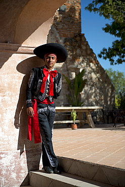 A young dancer performs at Hacienda Las Trancas, a 450 year old structure located near three Spanish Colonial cities of San Miguel de Allende, Guanajuato, and Dolores Hidalgo.