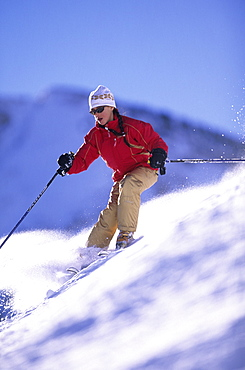 Isabella Wright skiing at Alta, Utah, United States of America